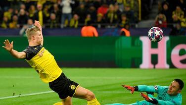 Erling Haaland empató a Lewandowski como máximo anotador en la Champions 2019-2020