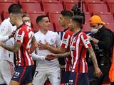 La pelea de Luis Suárez y Lucas Vázquez en el derbi de Madrid
