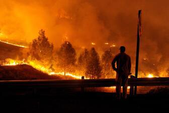 Impactantes imágenes de los incendios en CA