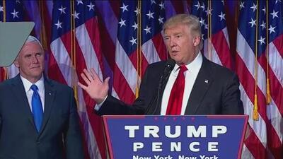 Las primeras palabras de reconciliación de Trump tras la campaña presidencial más divisiva en la historia de EEUU