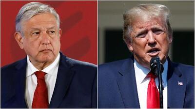 """López Obrador dice que Trump """"se ha moderado"""" en sus comentarios hacia México"""