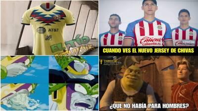 Memelogía: las nuevas playeras de América y Chivas generan humor en las redes sociales