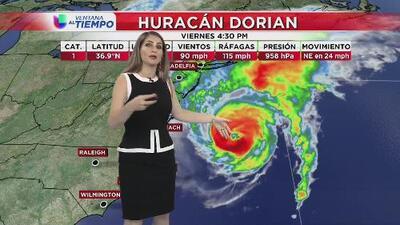 El huracán Dorian se va de Carolina del Norte