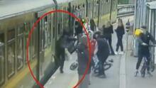 Mujer cae bajo un tren luego de que un joven le escupió en la estación