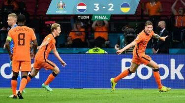 En un juegazo, Holanda venció a Ucrania sobre el final