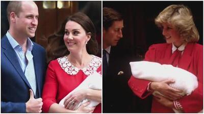 ¿Kate Middleton se inspiró en Diana de Gales para lucir su vestido de maternidad?