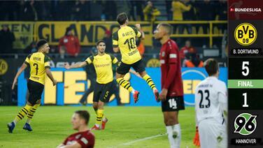 Golpe y contragolpe: Cátedra del Borussia Dortmund ante ingenuo Hannover