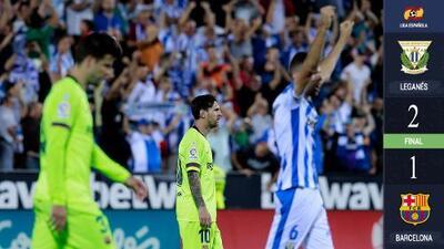 Sorpresa gigante: Barcelona cae frente al Leganés y pierde su invicto en La Liga de España