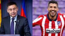 Luis Suárez se burla del expresidente del Barça tras salir campeón