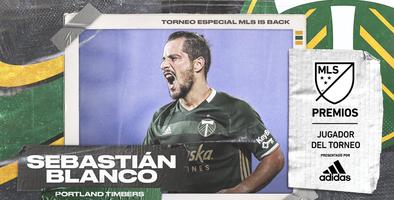 Sebastián Blanco, elegido como el Jugador del Torneo Especial MLS is Back