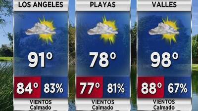 Altos niveles de calor y humedad para Los Ángeles este jueves