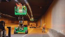 Nuevo sistema de iluminación en el túnel de la autopista I-10