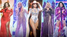 Del poderoso rojo de Chiquis al ecléctico body de Thalía: los mejores looks de Ellas y su Música