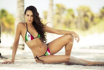 Copa Oro sexy: el apoyo de la espectacular Irma Gómez a su México lindo y querido
