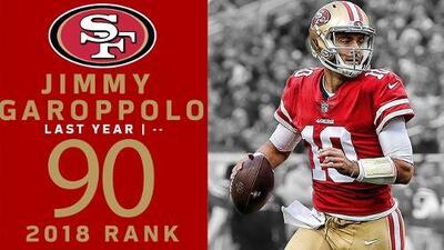 #90 Jimmy Garoppolo (QB, 49ers) | Top 100 Jugadores NFL 2018