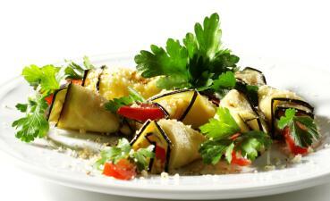 Delicioso menú vegetariano completo