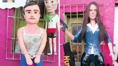 ¡No pierdas el tino! Las piñata del Chapo y Kate han causado furor