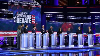 Las confrontaciones entre candidatos y ataques a la administración de Trump marcan el segundo debate demócrata