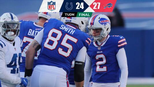 Los Bills siguen soñando tras vencer a los Colts en la ronda de comodines