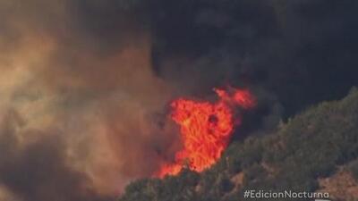 Emergencia por el incendio 'Rocky' en CA