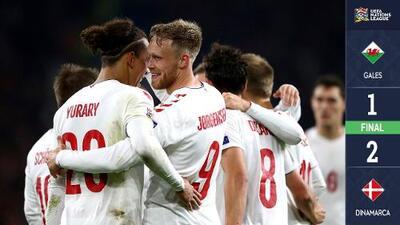 Dinamarca le pegó a Gales a domicilio y ascendió en la UEFA Nations League