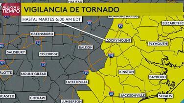 Emiten vigilancia de tornado en más de 30 condados de Carolina del Norte