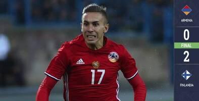 ¡Con la pelota, pero sin puntería! Armenia no puede en casa con una Finlandia certera