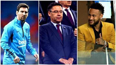 """Presidente del Barcelona, sobre el caso Neymar: """"Messi no pide a los jugadores"""""""