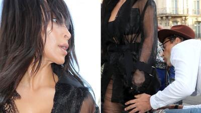 Vitalii Sediuk le besa el trasero a Kim Kardashian