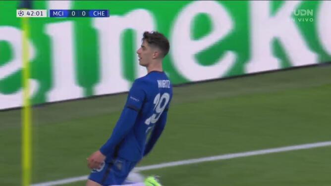 ¡Pone vibrante la Final! Havertz saca a Ederson y anota el 0-1 del Chelsea
