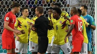 ¿Influyó el arbitraje en el resultado del partido entre Inglaterra y Colombia?