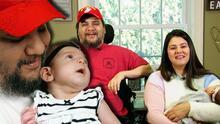 Un bebé milagro: la conmovedora historia de un veterano de guerra que pudo ser papá tras quedar cuadripléjico