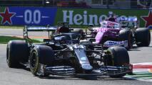 Hamilton gana en Italia y Sergio Pérez acaricia podio