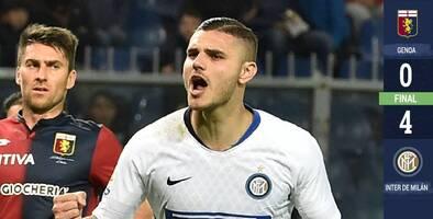 ¡Volvió Mauro Icardi! Anotó y dio asistencia en goleada del Inter al Genoa