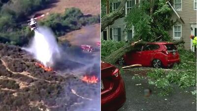 Voraces incendios y torrenciales aguaceros: clima implacable genera estragos en varias zonas de EEUU
