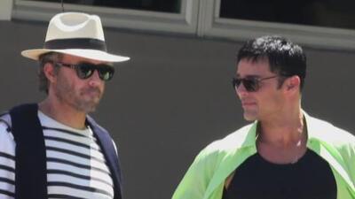 Cachamos a Ricky Martin y a Édgar Ramírez grabando escenas de una serie sobre la vida de Versace
