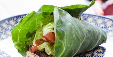 Wrap de hummus en hojas de lechuga | Reto 28