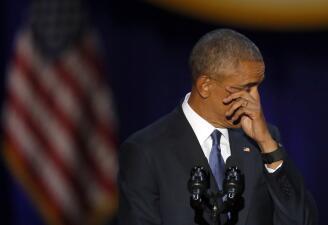 En fotos: El último discurso de Barack Obama como presidente