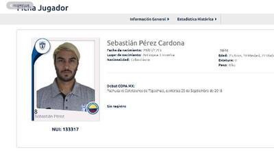 Ex Pachuca Sebastián Pérez, ahora en Barcelona SC, desencadenó crisis en Conmebol