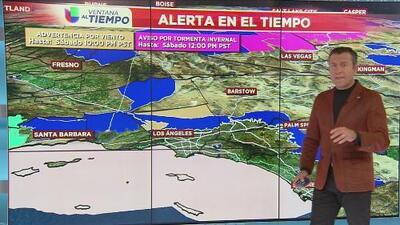 El frente frío que pasa por el sur de California afectará las temperaturas y los vientos