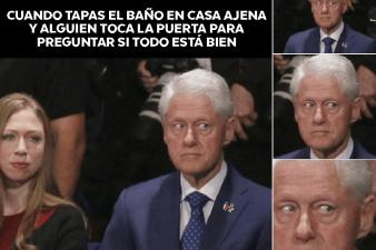 Los mejores memes de la reacción de Bill Clinton durante el debate