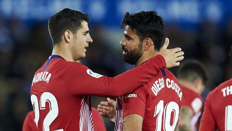 Atlético de Madrid sin artillería: Diego Costa y Álvaro Morata por fuera del partido ante el Barcelona