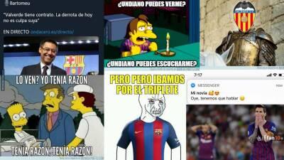 Memelogía: la Copa del Rey fue para el Valencia y las burlas para Messi y el Barcelona