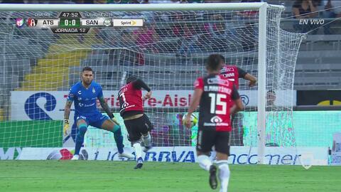 Atlas tuvo la portería abierta, pero Vigón e Isijara se pierden el gol