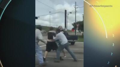 Incidente de tráfico en carretera de Houston, Texas acabó en pelea campal