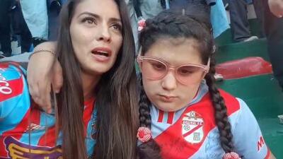 Mamá relata a su hija ciega, el gol del Ascenso del Arsenal