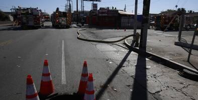 Recomiendan a residentes quedarse en casa tras derrame químico en zona de construcción de Compton
