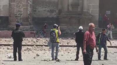 Reportan los primeros daños en Ciudad de México tras sismo fuerte sismo
