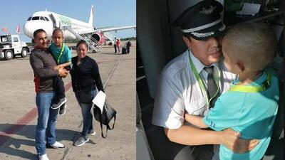 (Video) Niño con cáncer viaja para conocer el mar y es reconocido por tripulación del vuelo