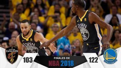 Steph Curry, el fenómeno: Golden State abrumó a Cleveland en el Juego 2 de las Finales